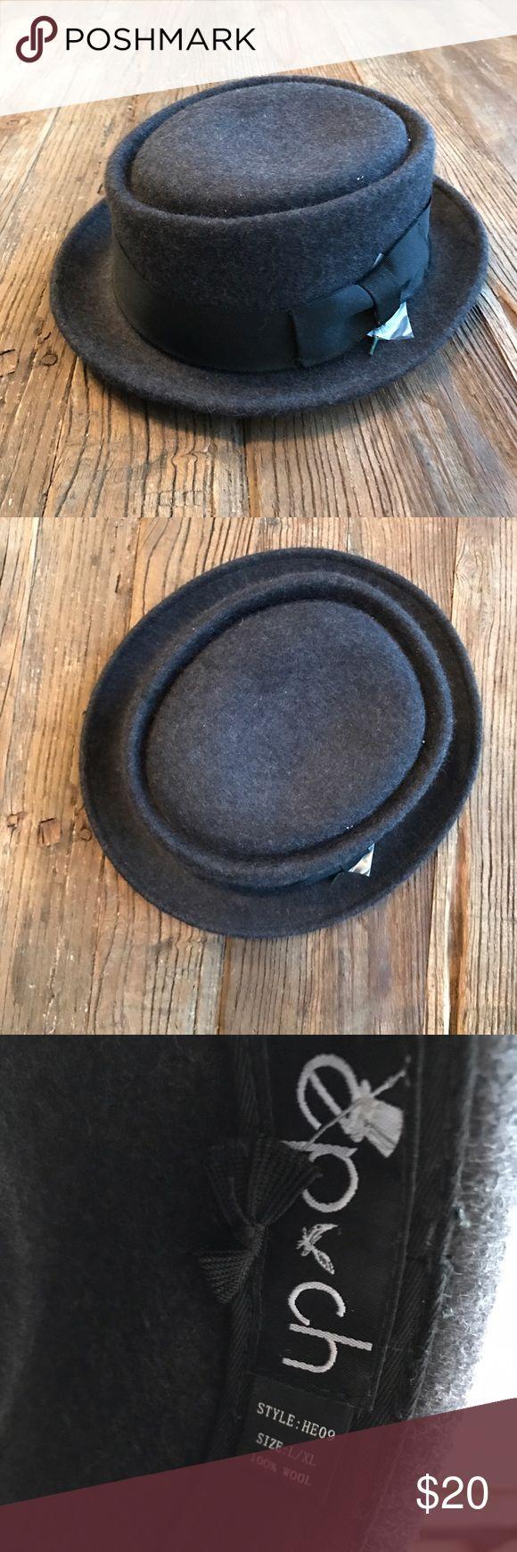 Men's wool hat Men's wool grey hat with short brim Accessories Hats