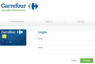 Fatura do Cartão Carrefour MasterCard ou Visa