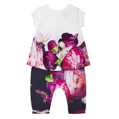 Baker by Ted Baker Baby girls' multi-coloured floral print top and harem trousers | Debenhams