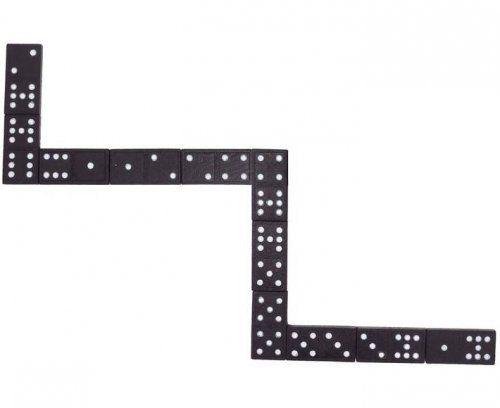Ντόμινο 55 τεμαχίων σε ξύλινη θήκη/ Domino game in a wooden box