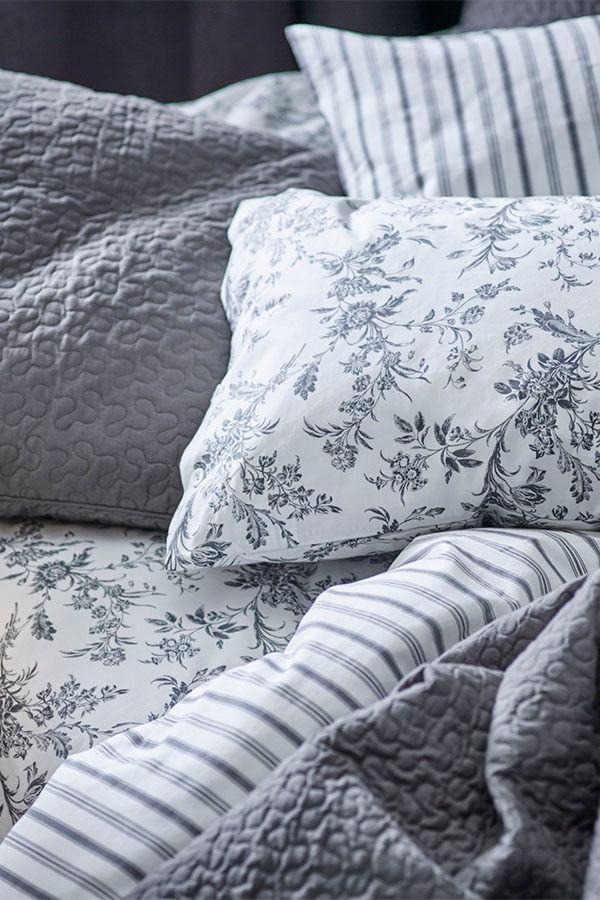 Alvine Kvist Duvet Cover And Pillowcase S White Gray