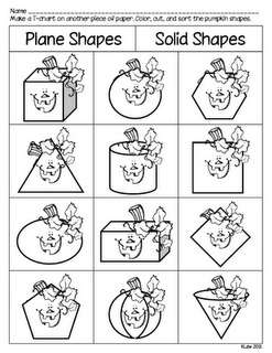 Plane shapes solid shapes worksheet to go with book for Spookley coloring pages