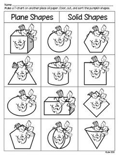 Use with Spookley, The Square Pumpkin by Joe TroianoThe Letter, Shape Sortpdf, 3D Shape, Schools, Squares Pumpkin, Shape Sorting Pdf, Spookley Shape, Math Ideas, First Grade