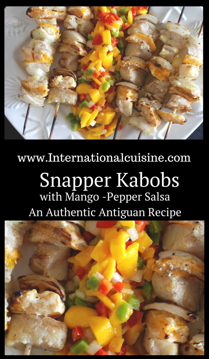 This red snapper kabob recipe with mango pepper salsa is super easy and delicious. Perfect for any night of the week.