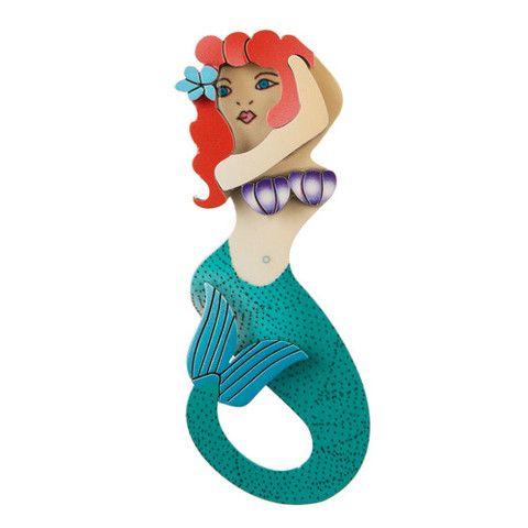 Erstwilder Limited Edition Sea Maiden Jane Brooch, $34.95 (AUD)