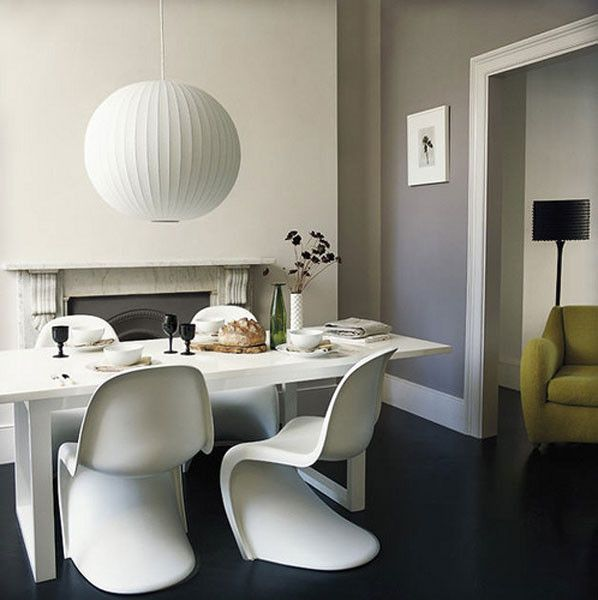 White Panton Chair.  Panton chair #whitearmchair #diningroomchairs #chairdesign upholstered dining chairs, modern chairs ideas, upholstered chairs | See more at http://modernchairs.eu
