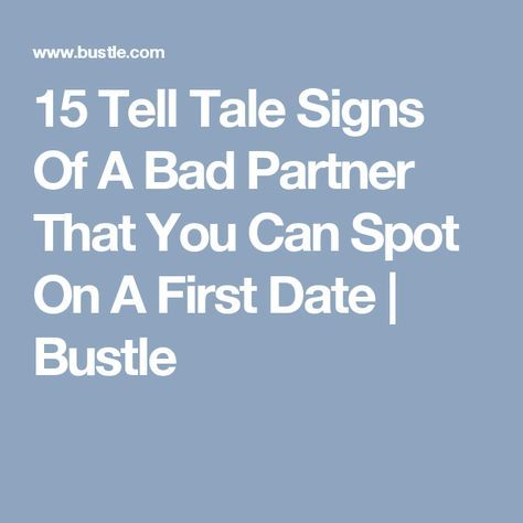bad first date signs