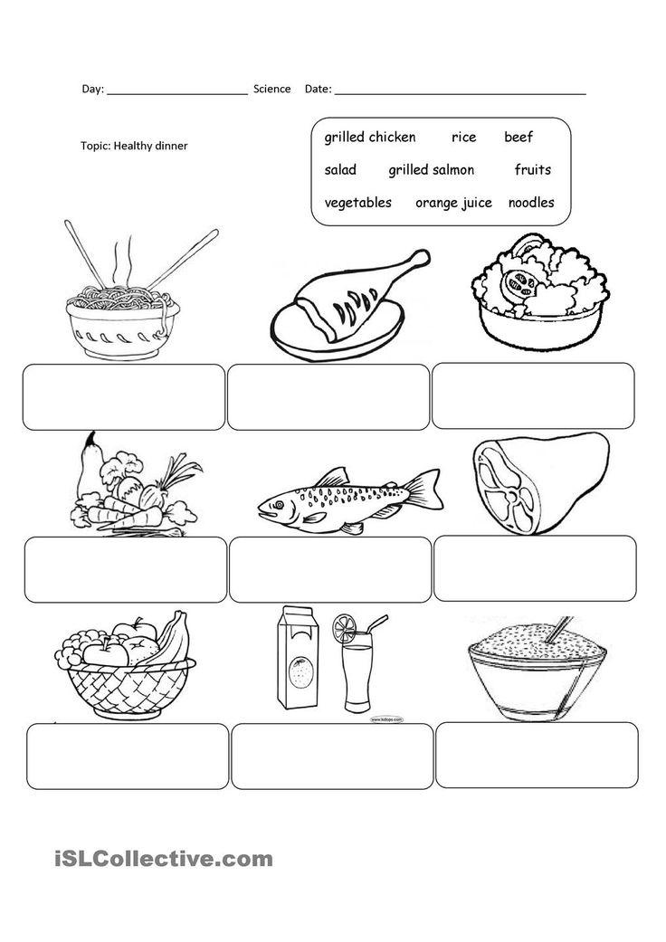 11 best Food and Drink images on Pinterest | Worksheets, Junk food ...