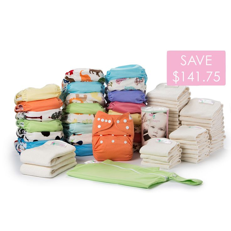 Ultimate Cloth Nappy Pack | EcoNaps Everything you need to set you up for your Cloth Nappy Adventure! 24 gorgeous nappies, a full range of lush Bamboo inserts, Mess-Free Bamboo Flush Liners and a Waterproof Nappy Bag!