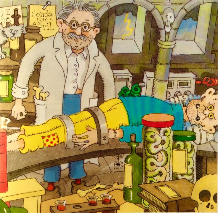 Mad Professor from Monster Madness Picture Puzzle Book