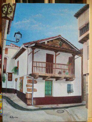 Acrílico sobre lienzo - Casa de los abuelos de mi amiga Zaira, en Villanueva de La Vera