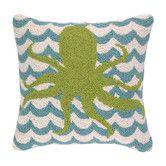 Found it at Wayfair - Octopus in Waves Hook Wool Throw Pillow