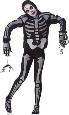 Как нарисовать скелет на костюме
