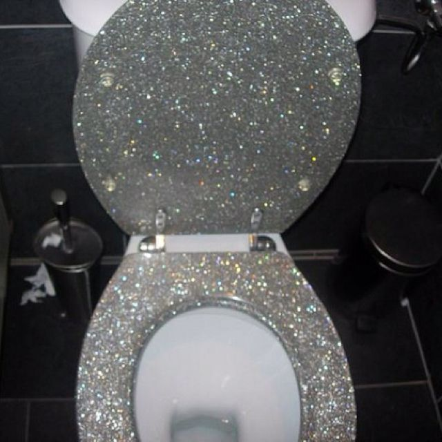glitter toilet seat!  I will get one!!!!!