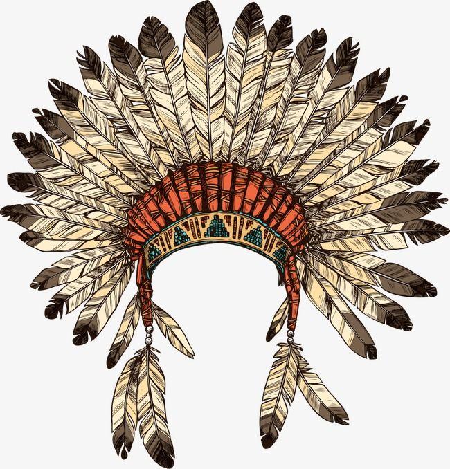 A Instalacao De Um Vector De Indios O Indio Cocar De Indios
