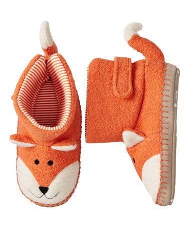Another great find on #zulily! Orange Fox Slippers by Hanna Andersson #zulilyfinds