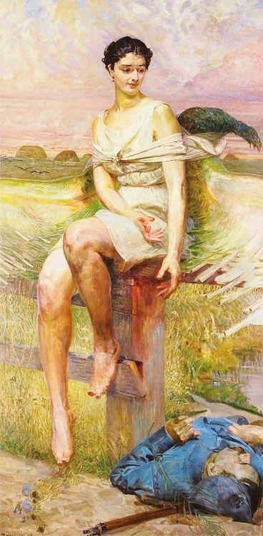 Jacek Malczewski - Nike Legionów, 1916