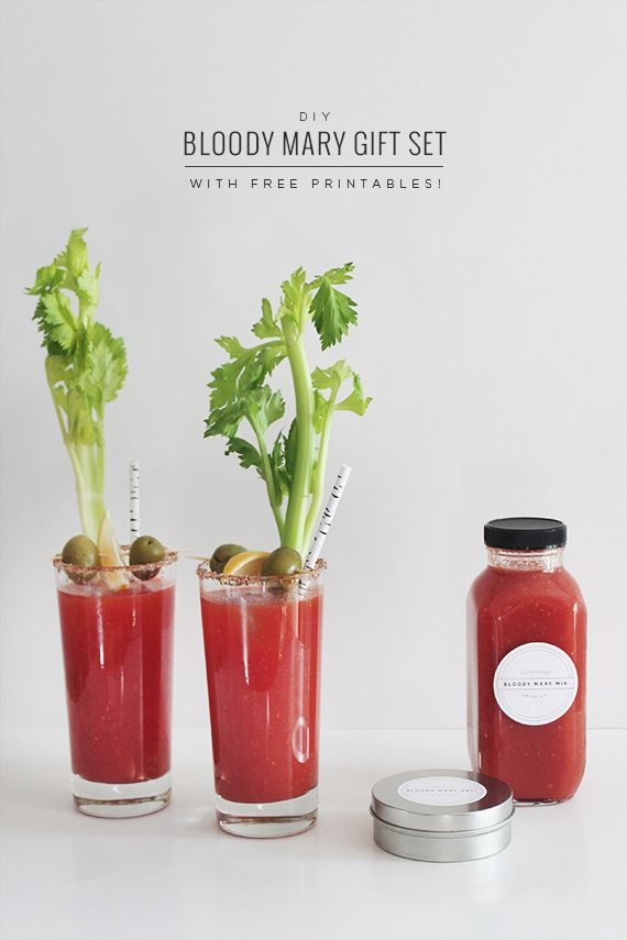 diy holiday gift / bloody mary gift set
