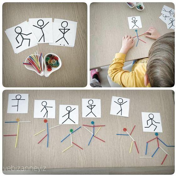 Matematik sayı çubukları ile sadece işlem mi yapıyorsunuz? Bakın biz şablona bakıp dans eden adamlar yaptık.