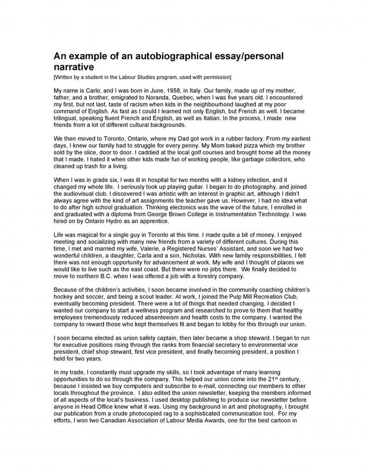 Download autobiography template 25 essay examples