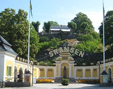 Skansen is the first open air museum and zoo in Sweden and is located on the island Djurgården in Stockholm, Sweden. It was founded in 1891 by Artur Hazelius (1833–1901) to show the way of life in the different parts of Sweden before the industrial era.