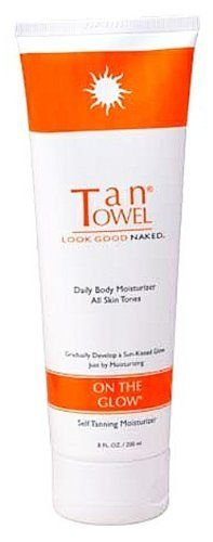 TanTowel Tan Towel On The Glow Self-Tanning Moisturizer (8 oz.) by Tan Towel. $19.99. Highest Quality Self-Tan available. Daily moisturizer is the perfect fix for year-round radiance. It contains DHA & Erythrulose, skin color enhancing ingredients that slowly develop a natural-looking glow with no stains or dyes. It also creates a subtle effect that gets darker over time without streaking. Daily use for one week will result in noticeable change in skin tone up ...