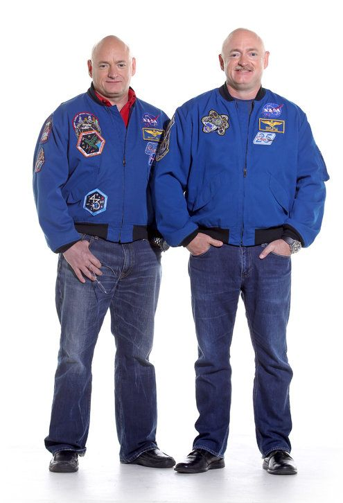 """A Study of Twins, Separated by Orbit - NYTimes.com. """"Scott, left, and Mark Kelly, who are 50, are the only identical twins to have flown in space."""""""