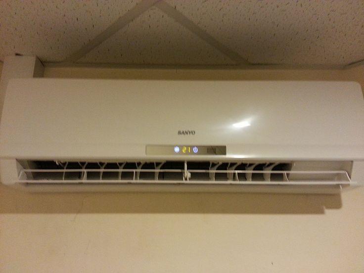 Montaż klimatyzacji firmy Sanyo, jednostka wewnętrzna