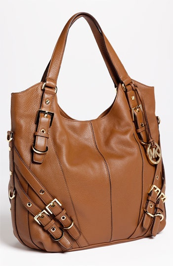 Michael Kors does strappy right. He's always got such a great eye for balance! MICHAEL Michael Kors 'Milo' Shoulder Tote | Nordstrom