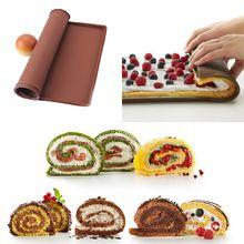 1ks 30 * 25 cm s nepřilnavým Silikonová podložka multifunkční trouba vaření Pad dort Švýcarský Roll těsto na pizzu Pad Pečení Trade nádobí (Čína (pevninská část))
