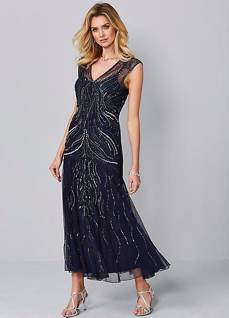 45d522ca898 Beaded Maxi Dress in 2019 | Trend: Red Carpet Looks | Dresses, Smart ...