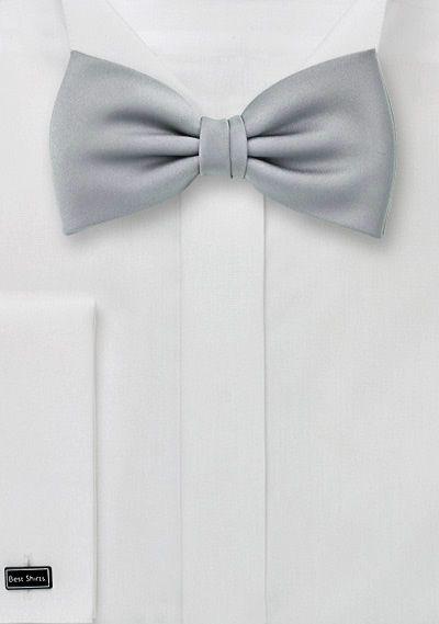 Elegant Formal Silver Bow Tie