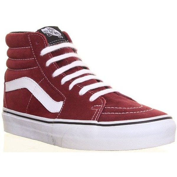 SV Genuine Vans Sk8 Hi Top Unisex Suede Leather Lace Up Trainers... ❤ liked on Polyvore featuring shoes, sneakers, high top suede shoes, hi tops, vans trainers, suede shoes and unisex shoes
