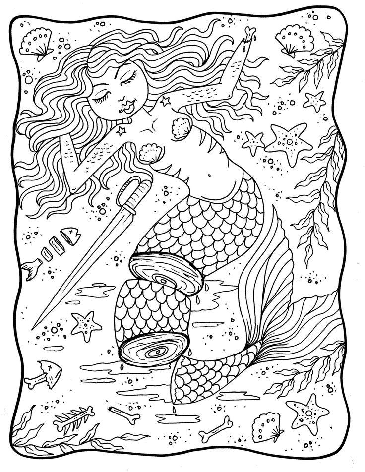 Mermaid Nightmares PDF downloadable printable, digital