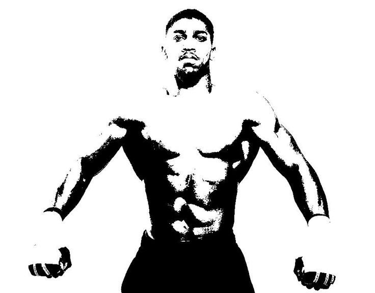 ANTHONY JOSHUA HAND PAINTED PICTURE ON CANVAS 100CM 50CM