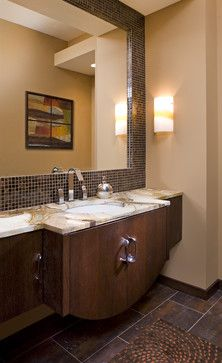 Tile Framing Mirror Design, Pictures, Remodel, Decor and Ideas