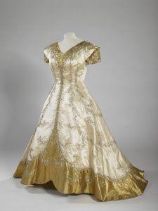 Queen Elizabeth The Queen Mother\u0027s dress, Norman Hartnell,