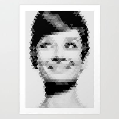 Geometric Audrey Art Print by Matěj Kašpar Jirásek - $13.49