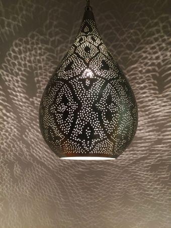 Orientalische indische silber leuchte deckenleuchten for Deckenlampe schlafzimmer