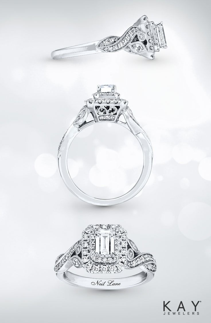 Milgrain detailing and vintage-inspired style, this engagement ring from the Neil Lane Bridal collection is simply breathtaking.