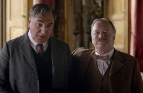 Carson and the other Cheerful Charlie on Downton Abbey Season 1 Episode 2