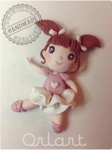Orlart - Ballerina in fimo handmade