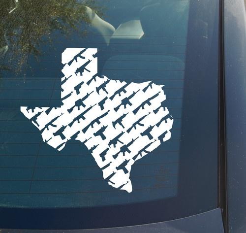 Texas Guns Vinyl Decal Sticker State Houston Austin Dallas