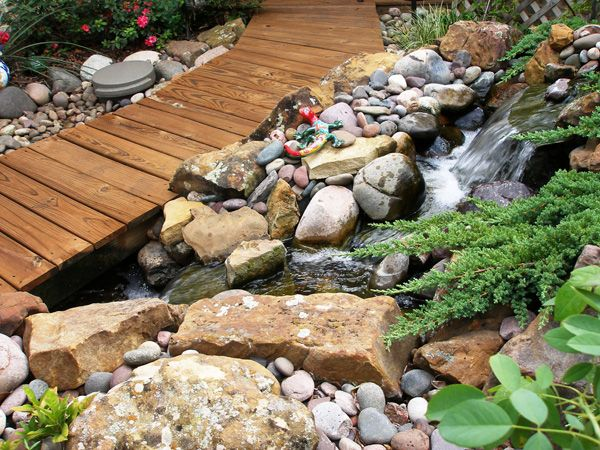 Best 25 backyard stream ideas on pinterest garden for Koi pond builders greenville sc