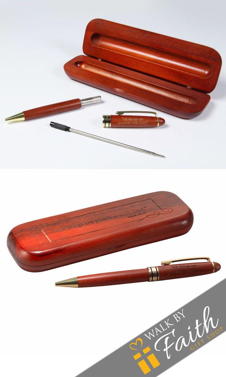 Wooden Pen - Rosewood - Mark 10:27
