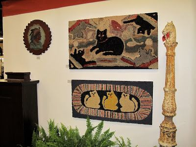 Hill Country House: Nashville Antique Show. Primitive Hooked Rugs ...