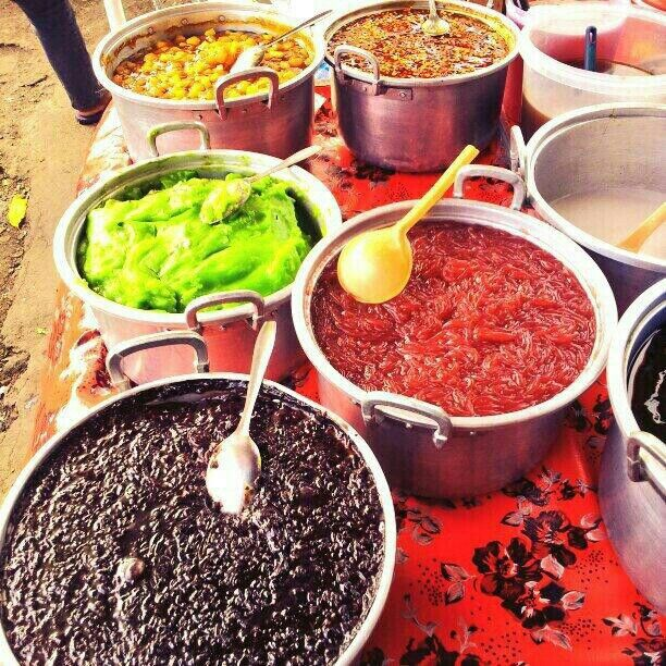 Delicious Balinese Desert for Hot day  Daluman(Cendol ) in Traditional Market nyam..Love Indonesia