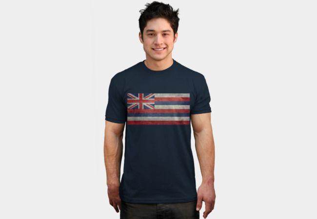 Vintage retro Hawaii state flag T-Shirt - Design By Humans #Hawaii #Hawaiian #Hawaiiflag #Hawaiianflag