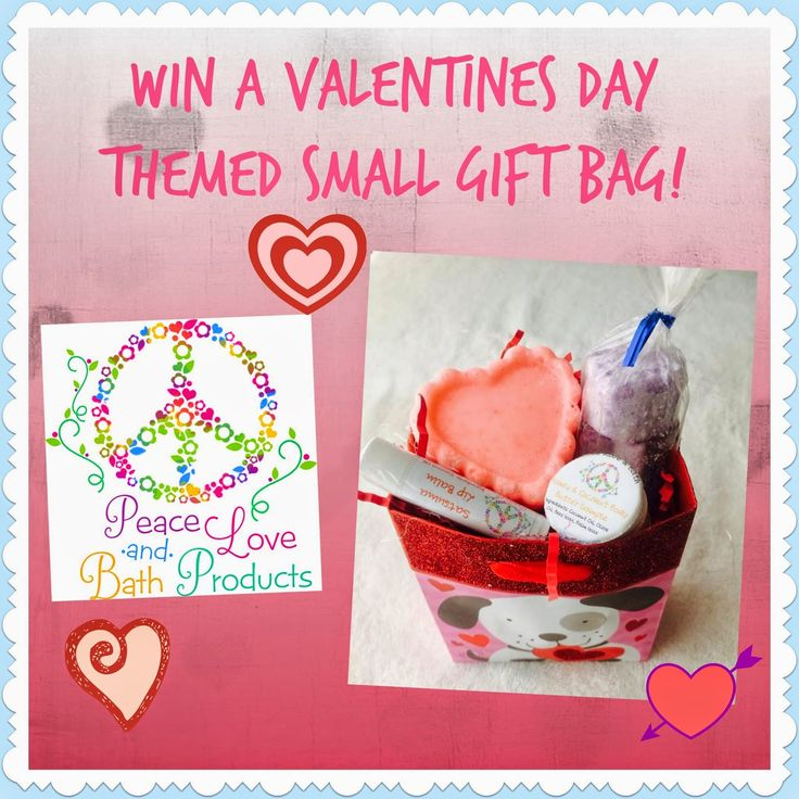Peace Love & Bath Products: Valentines Day Gift Bag Giveaway.  Click picture to enter to win