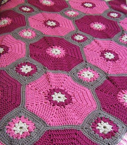 Crochet For Children: Octagons & Squares Throw (Free Pattern)